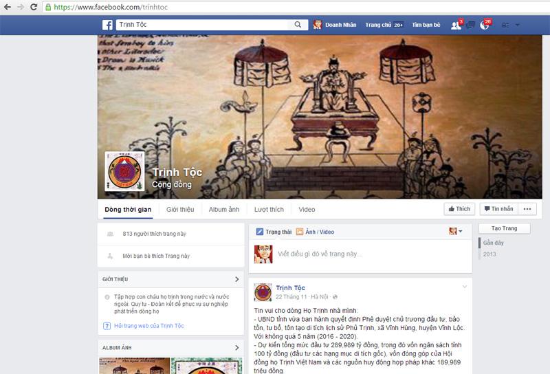 Trinh toc face book online